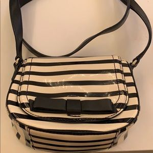 Never worn black and white Kate Spade purse